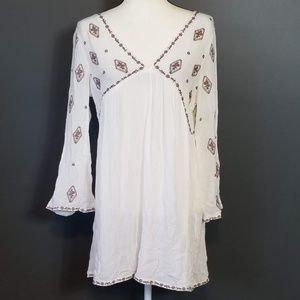 ASOS WOMAN White Boho Mini Dress Large